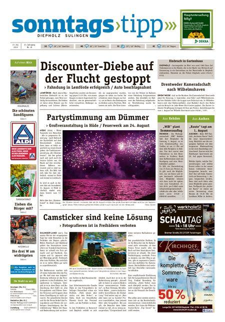 Sonntags-Tipp Diepholz-Sulingen vom 27.07.2019