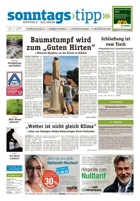 Sonntags-Tipp Diepholz-Sulingen vom 03.08.2019