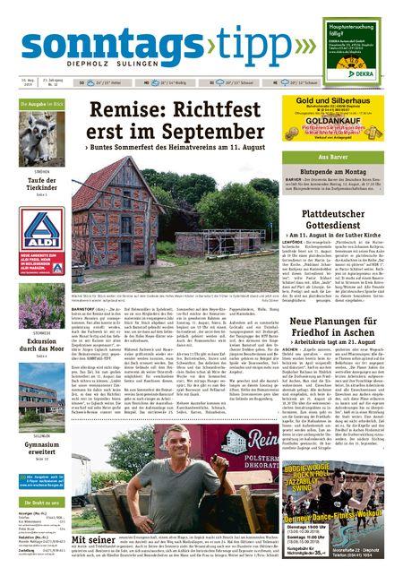 Sonntags-Tipp Diepholz-Sulingen vom 10.08.2019