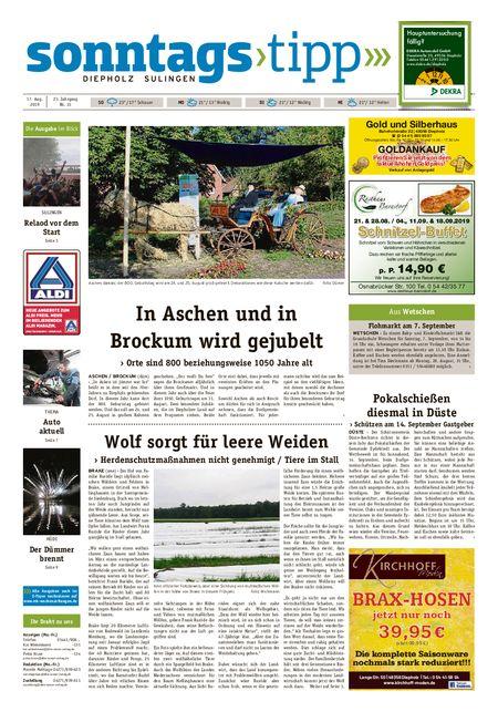 Sonntags-Tipp Diepholz-Sulingen vom 17.08.2019