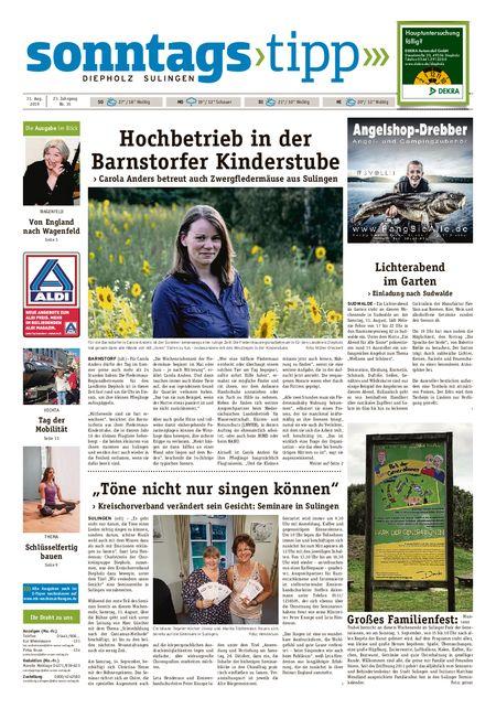 Sonntags-Tipp Diepholz-Sulingen vom 31.08.2019
