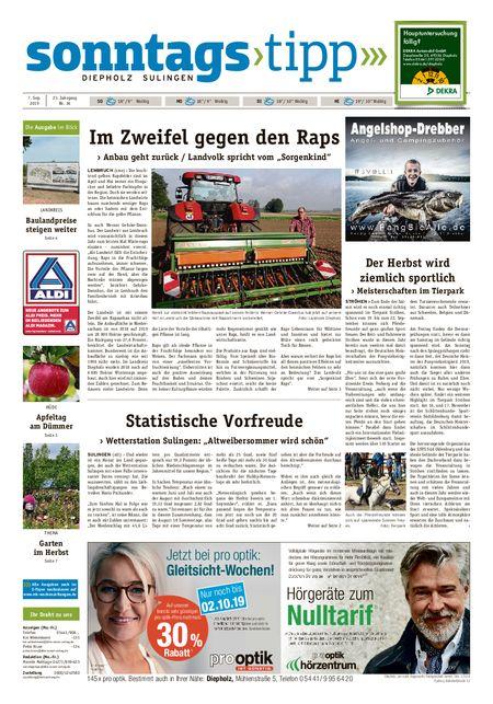 Sonntags-Tipp Diepholz-Sulingen vom 07.09.2019