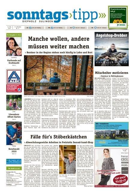 Sonntags-Tipp Diepholz-Sulingen vom 14.09.2019
