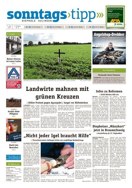 Sonntags-Tipp Diepholz-Sulingen vom 21.09.2019