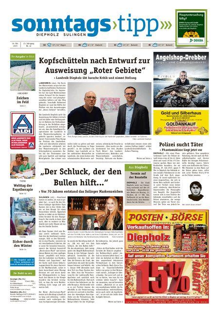 Sonntags-Tipp Diepholz-Sulingen vom 19.10.2019