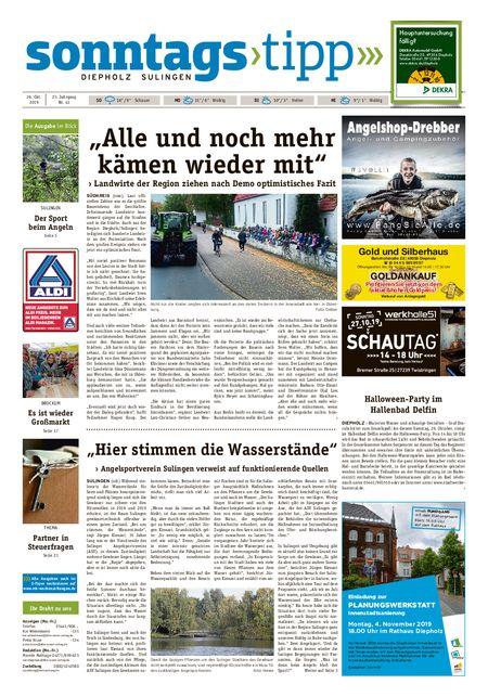 Sonntags-Tipp Diepholz-Sulingen vom 26.10.2019