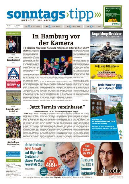 Sonntags-Tipp Diepholz-Sulingen vom 02.11.2019