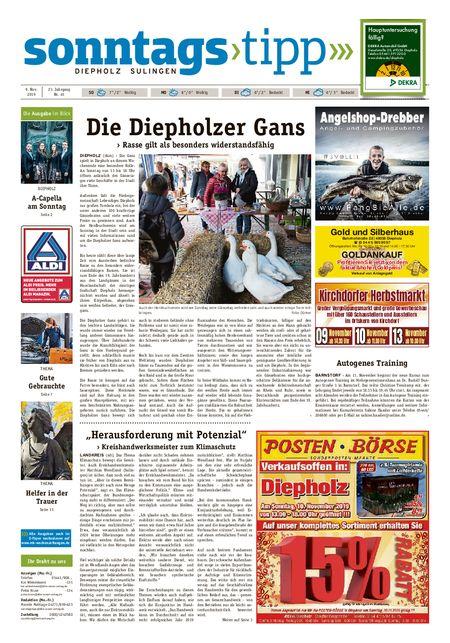 Sonntags-Tipp Diepholz-Sulingen vom 09.11.2019