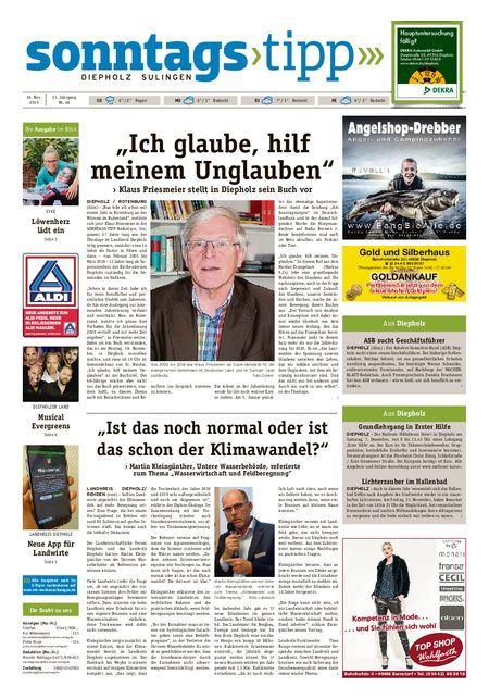 Sonntags-Tipp Diepholz-Sulingen vom 16.11.2019