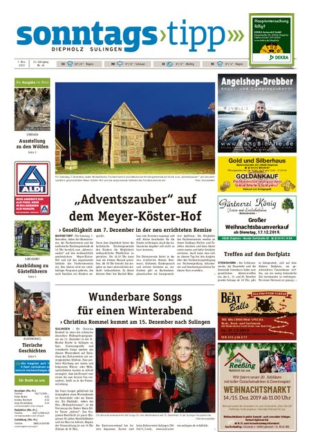 Sonntags-Tipp Diepholz-Sulingen vom 07.12.2019