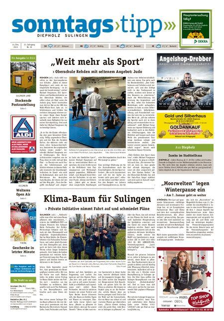 Sonntags-Tipp Diepholz-Sulingen vom 14.12.2019