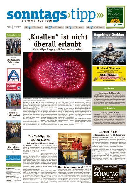 Sonntags-Tipp Diepholz-Sulingen vom 28.12.2019