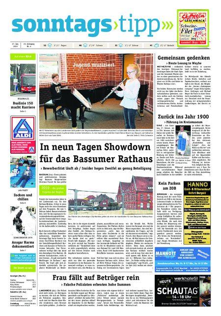 Sonntags-Tipp Syke-Weyhe-Bassum vom 27.01.2019
