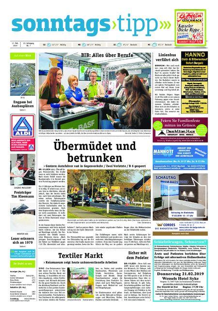 Sonntags-Tipp Syke-Weyhe-Bassum vom 17.02.2019