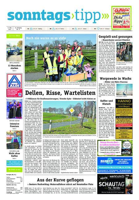 Sonntags-Tipp Syke-Weyhe-Bassum vom 31.03.2019
