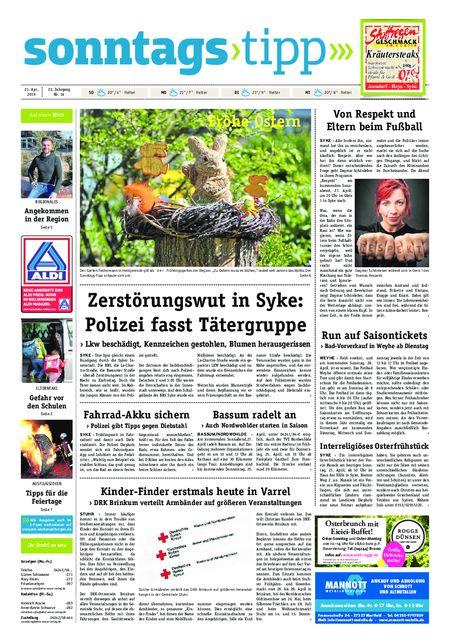 Sonntags-Tipp Syke-Weyhe-Bassum vom 21.04.2019