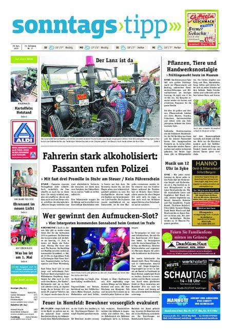 Sonntags-Tipp Syke-Weyhe-Bassum vom 28.04.2019