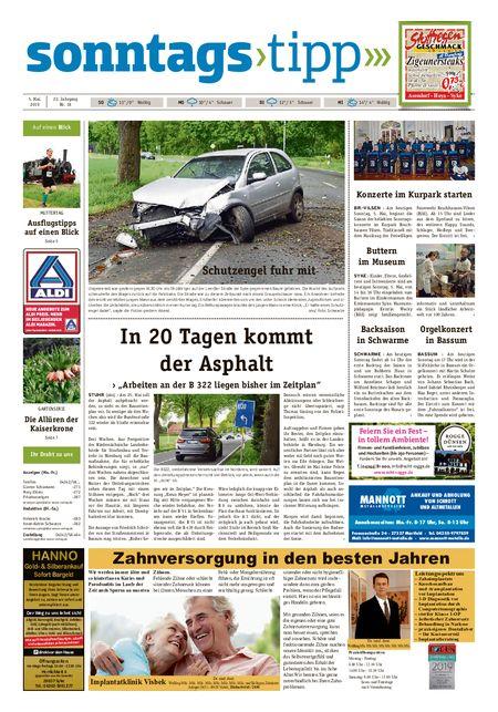 Sonntags-Tipp Syke-Weyhe-Bassum vom 05.05.2019