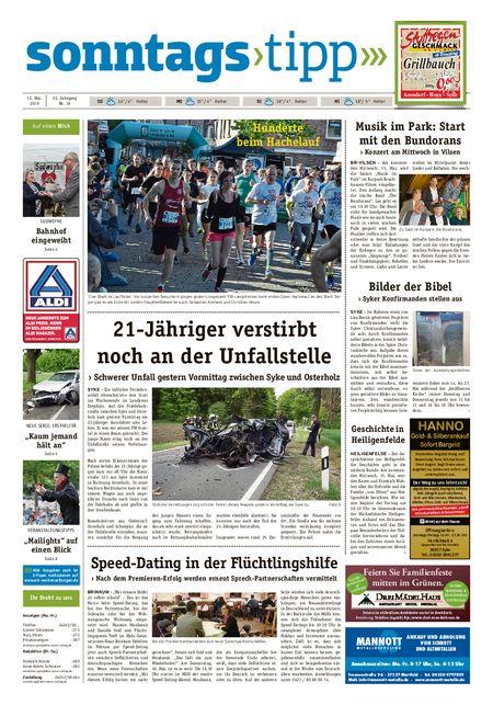 Sonntags-Tipp Syke-Weyhe-Bassum vom 12.05.2019