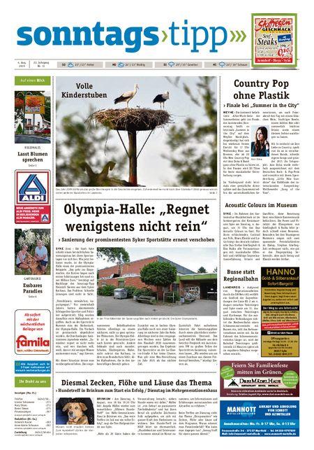 Sonntags-Tipp Syke-Weyhe-Bassum vom 04.08.2019