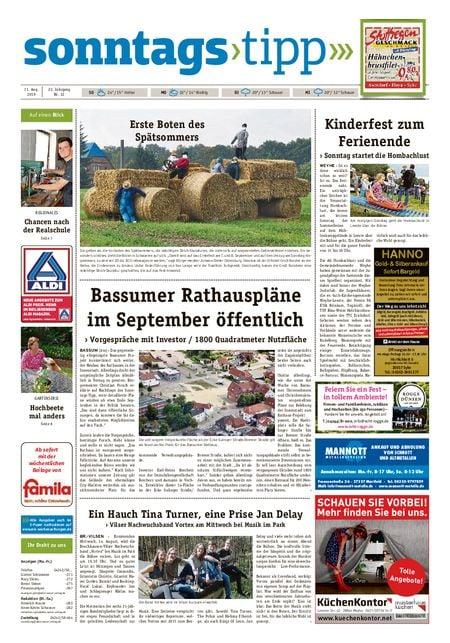 Sonntags-Tipp Syke-Weyhe-Bassum vom 11.08.2019