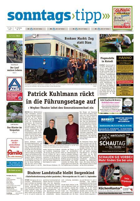 Sonntags-Tipp Syke-Weyhe-Bassum vom 25.08.2019