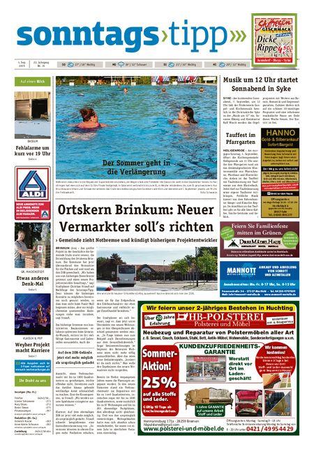 Sonntags-Tipp Syke-Weyhe-Bassum vom 01.09.2019