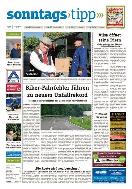 Sonntags-Tipp Syke-Weyhe-Bassum vom 15.09.2019