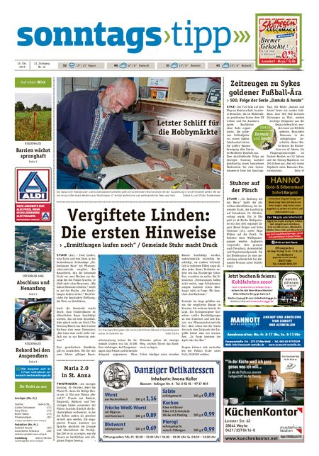 Sonntags-Tipp Syke-Weyhe-Bassum vom 20.10.2019