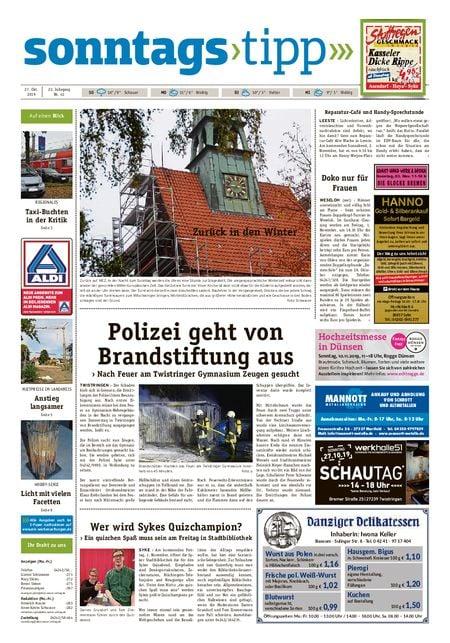 Sonntags-Tipp Syke-Weyhe-Bassum vom 27.10.2019