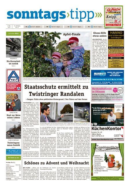 Sonntags-Tipp Syke-Weyhe-Bassum vom 03.11.2019