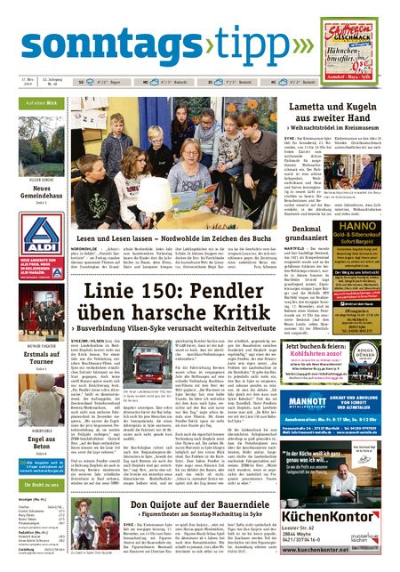 Sonntags-Tipp Syke-Weyhe-Bassum vom 17.11.2019