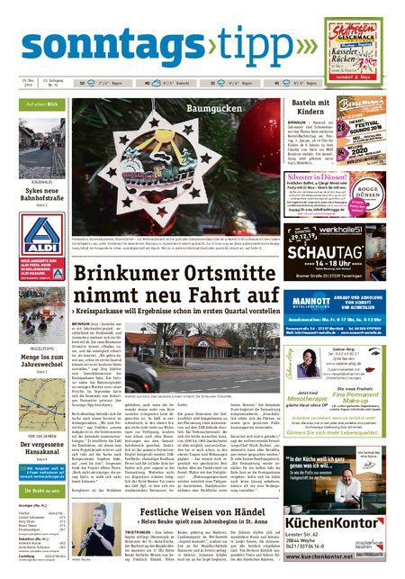 Sonntags-Tipp Syke-Weyhe-Bassum vom 29.12.2019
