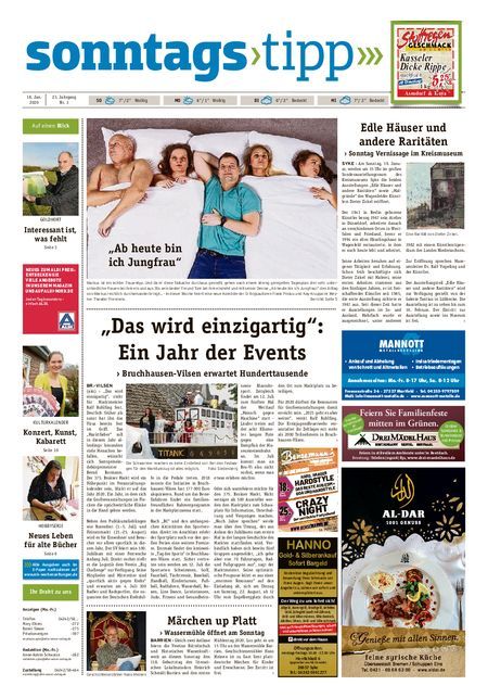 Sonntags-Tipp Syke-Weyhe-Bassum vom 18.01.2020