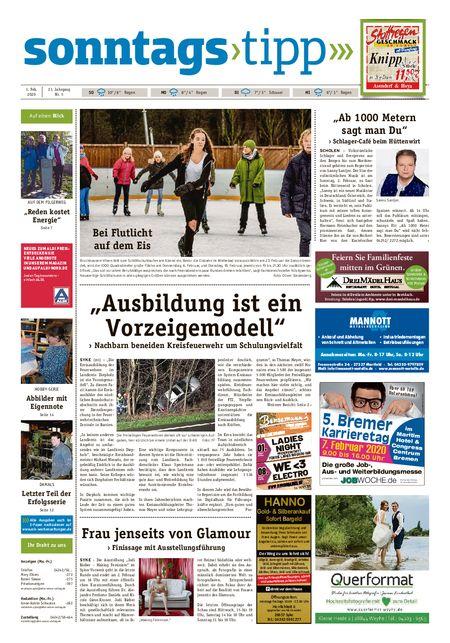 Sonntags-Tipp Syke-Weyhe-Bassum vom 01.02.2020