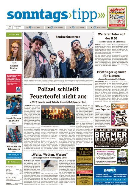 Sonntags-Tipp Syke-Weyhe-Bassum vom 08.02.2020