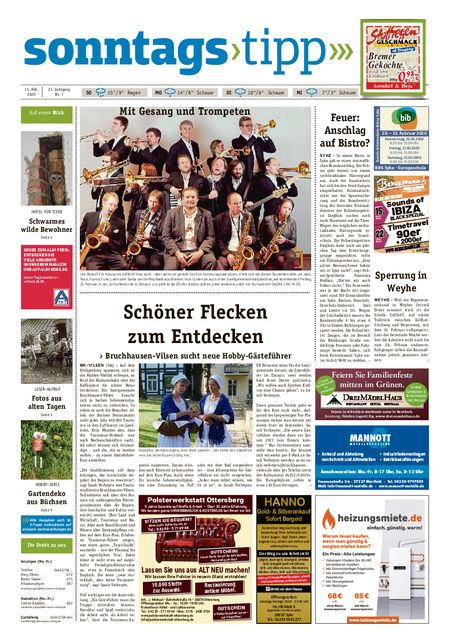 Sonntags-Tipp Syke-Weyhe-Bassum vom 15.02.2020
