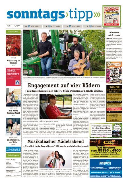 Sonntags-Tipp Syke-Weyhe-Bassum vom 07.03.2020