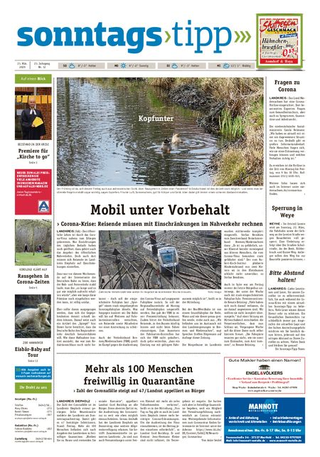 Sonntags-Tipp Syke-Weyhe-Bassum vom 21.03.2020