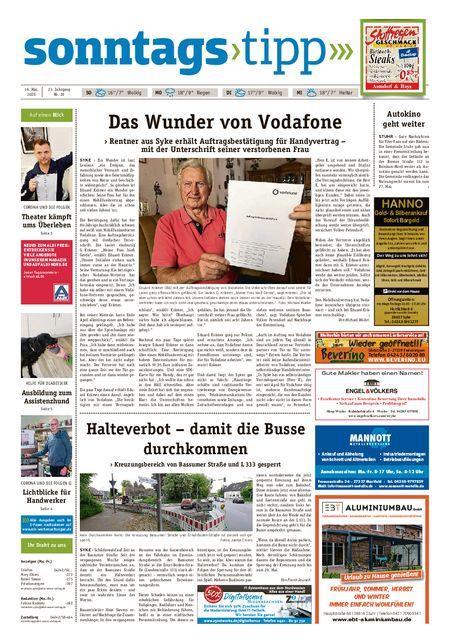 Sonntags-Tipp Syke-Weyhe-Bassum vom 16.05.2020