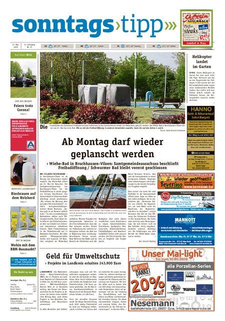 Sonntags-Tipp Syke-Weyhe-Bassum vom 23.05.2020