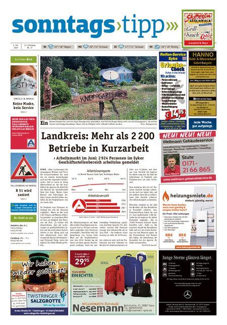 Sonntags-Tipp Syke-Weyhe-Bassum vom 04.07.2020