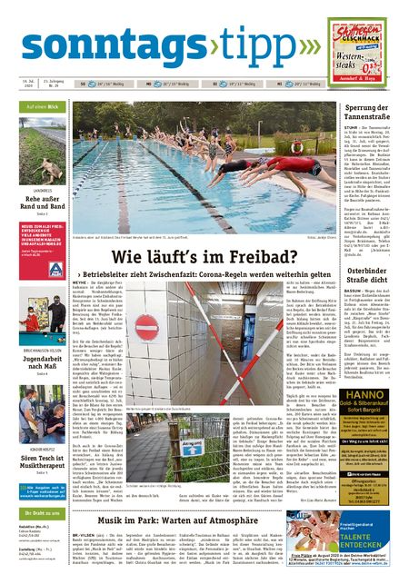 Sonntags-Tipp Syke-Weyhe-Bassum vom 18.07.2020