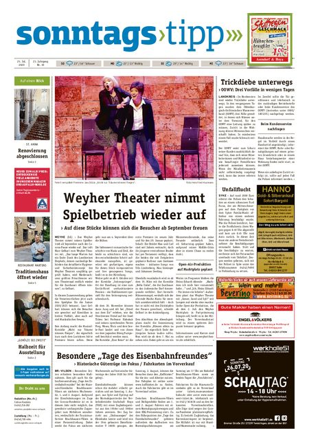 Sonntags-Tipp Syke-Weyhe-Bassum vom 25.07.2020