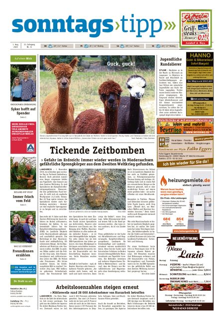 Sonntags-Tipp Syke-Weyhe-Bassum vom 01.08.2020