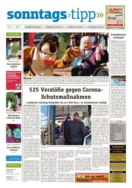Sonntags-Tipp Syke-Weyhe-Bassum vom 12.09.2020