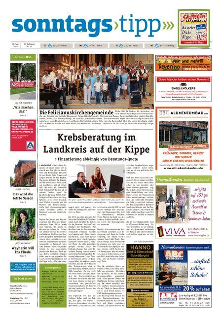 Sonntags-Tipp Syke-Weyhe-Bassum vom 19.09.2020