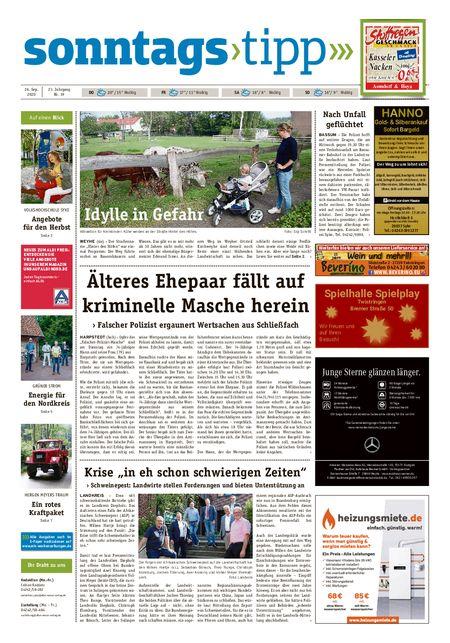 Sonntags-Tipp Syke-Weyhe-Bassum vom 26.09.2020
