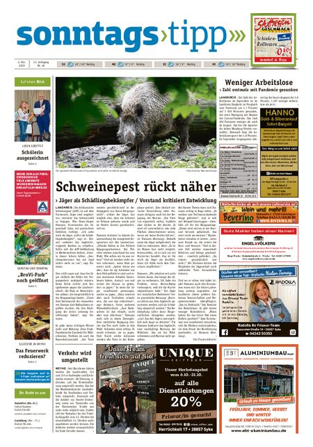 Sonntags-Tipp Syke-Weyhe-Bassum vom 02.10.2020
