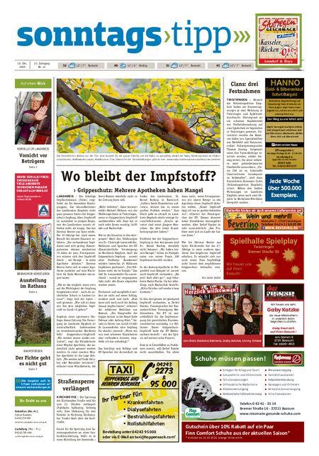 Sonntags-Tipp Syke-Weyhe-Bassum vom 10.10.2020